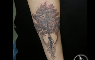 Tree with roots Tattoo by David