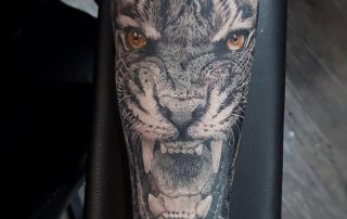 Realism Tiger Tattoo by Clayton