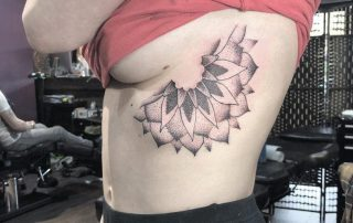 Side Boob Half Mandala Tattoo by Laura