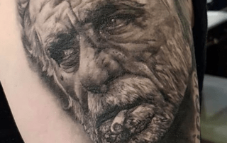 Realism Portrait Tattoo by Mike
