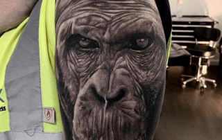 Realism Gorilla Tattoo by Mike