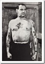 1951, King Fredrik IX of Denmark Tattoos