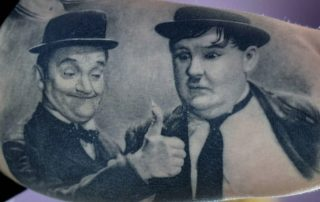 Stan Laurel and Oliver Hardy Tattoo by Sebastian