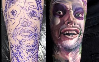 Beetlejuice Portrait Tattoo by Jamaine
