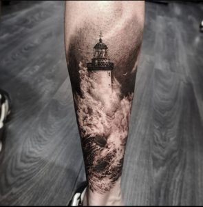 Lighthouse tattoo first tattoo what to think of