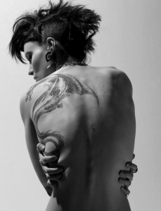 Badass movie tattoos girl with the dragon tattoo